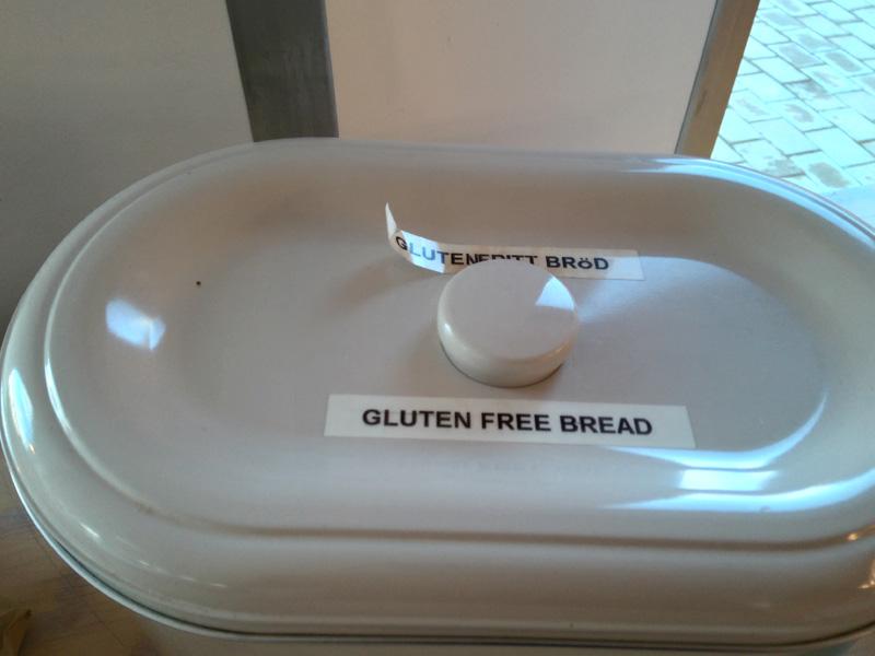 Recipiente para pan sin gluten