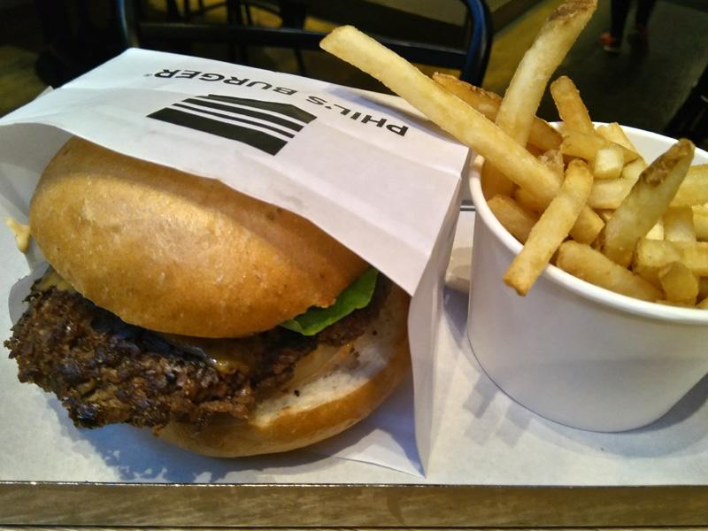 Hambuerguesa sin gluten en Phil's Burger